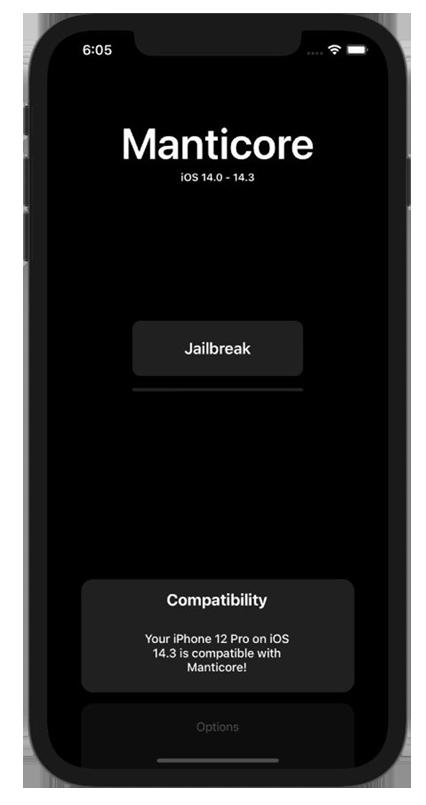 Manticore Jailbreak for iOS 14 - iOS 14.3 jailbreak